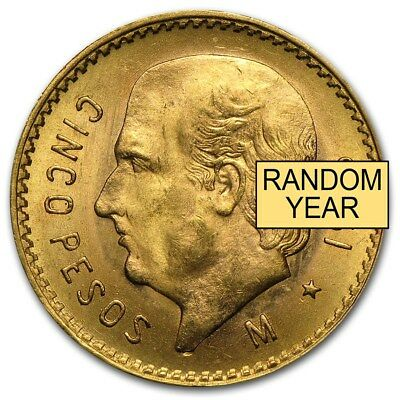 Mexico Gold 5 Pesos AGW .1205 (Random Year) - SKU #167646