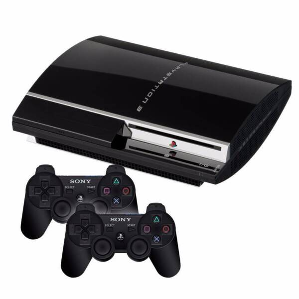 playstation 3 60 gb console 2 new controllers 2 ps3 games