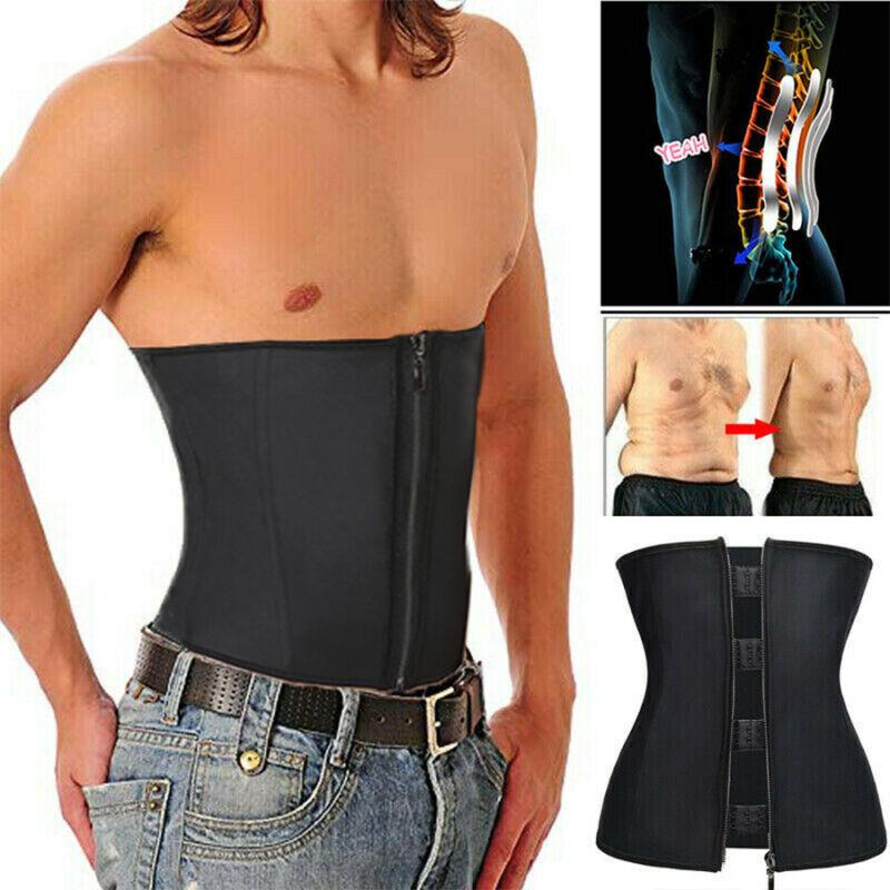 Men Posture Corrector Belly Compression Zipper Shapers Slim