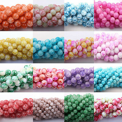 50Pcs Czech Crystal Glass Colorful Floral Jewelry Loose Spacer Beads 6/8/10mm - Floral Beads