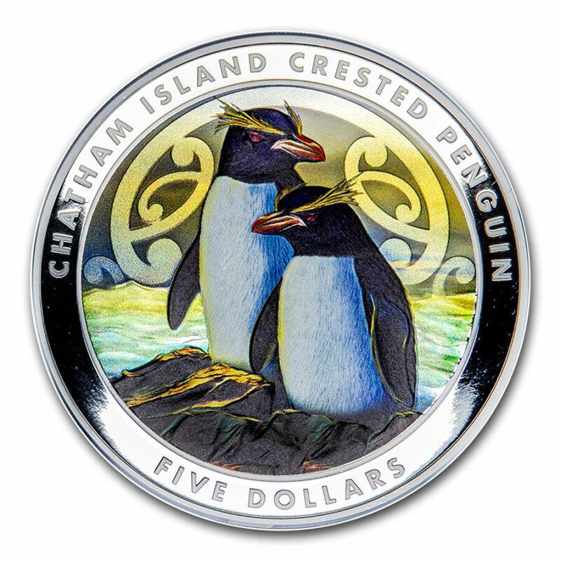 2020 New Zealand 2 oz Silver Penguin Proof Color (w/Box & COA) - SKU#212411