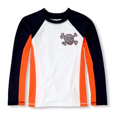 THE CHILDREN'S PLACE BOY RASHGUARD SWIMWEAR L/S SWIM TOP SUN SHIRT UPF50+  - 50s Boy Clothes
