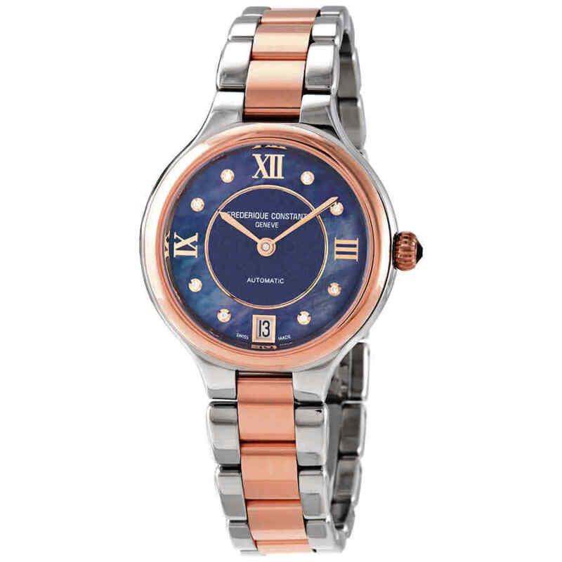 Frederique Constant Classics Automatic Diamond Ladies Watch FC-306NHD3ER2B