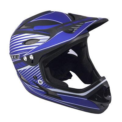 Author Fahrradhelm Fullface Rookie Größe M 57cm-58cm BMX Dirt blau / schwarz
