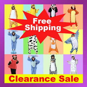 Animal-Onesies-Adult-Kids-Kigurumi-Cosplay-Costume-Pyjamas-Pajamas-Sleepwear-AU