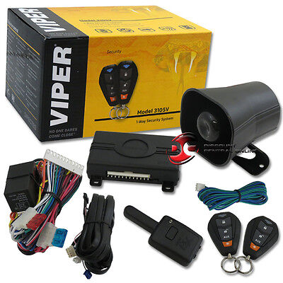 2015 VIPER 350 PLUS 1-WAY CAR ALARM SECURITY SYSTEM WITH KEYLESS ENTRY 3105V