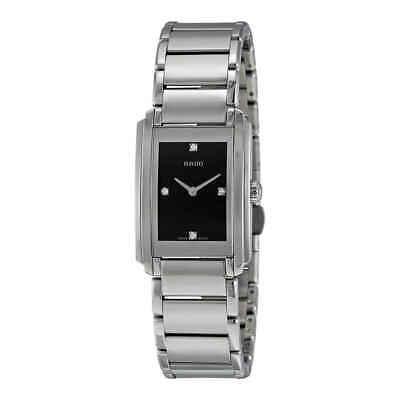 Rado Integral Black Dial Stainless Steel Ladies Watch R20213713