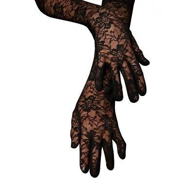 Elegant Black Lace Dress Gloves Soft Extra Soft Elbow Length Gloves](Pink Lace Gloves)