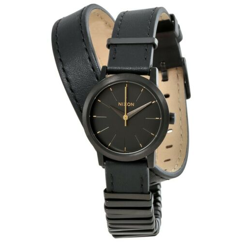 Nixon Women s A403-1616-00 Kenzi Wrap 26mm All Black Mixed A4031616 - $19.99