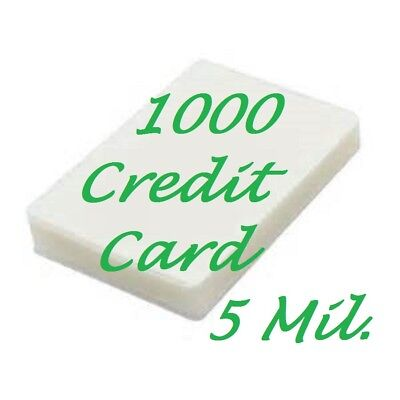 1000 Credit Card Laminating Pouches Laminator 5 Mil 2-18 X 3-38 Scotch Quality