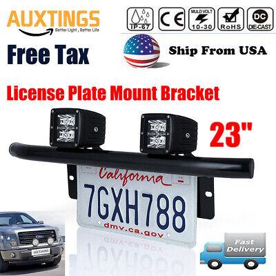 US Black Aluminum Car Bull Bar Working LED Light Mounting Bracket Holder Kit