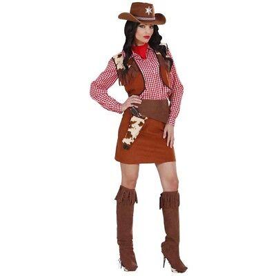 COWGIRL DAMEN KOSTÜM SET # Karneval Cowboy Wilder Western Party Verkleidung 5884 ()