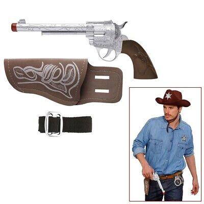 COWBOY COLT & HOLSTER Karneval Western Sheriff Kinder Kostüm Pistole Halter - Cowboy Pistole Holster Kostüm