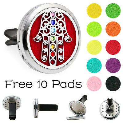 Car Vent Clip Essential Oil Diffuser Aromatherapy crystal cactus Locket 10Pads, used for sale  Shipping to Canada