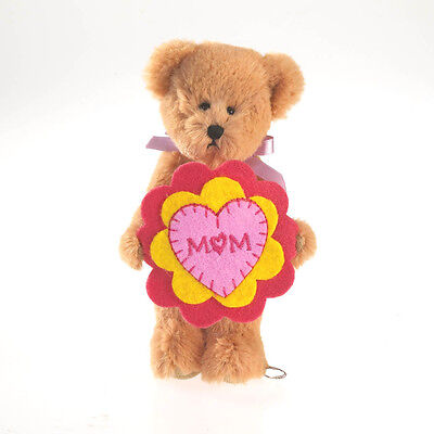 """BOYDS MOTHER'S DAY 5"""" PLUSH LIL FLOWER BEAR PANSY w/MOM EMBROIDERED FLOWER/11"""