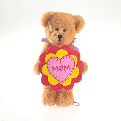 "BOYDS MOTHER'S DAY 5"" PLUSH LIL FLOWER BEAR PANSY w/MOM EMBROIDERED FLOWER/11"