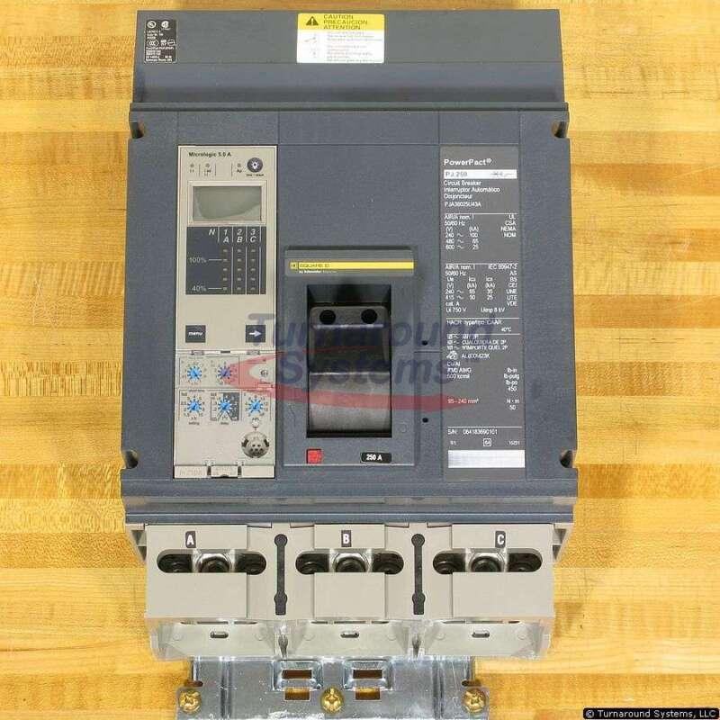 Square D Pja36025u43a Circuit Breaker, 250 Amp, 65 Kair, New!