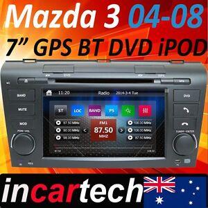 Mazda 3 04 05 06 07 08 Indash GPS Sat Nav Navigation Bluetooth DVD Player USB AU