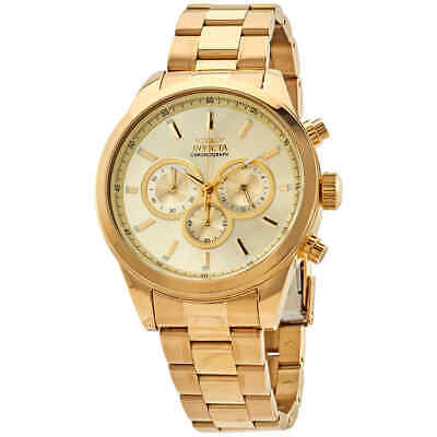 Invicta Specialty Chronograph Quartz Gold Dial Men's Watch 29174