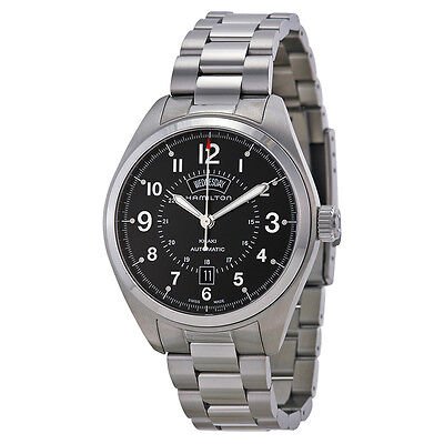 Hamilton Khaki Field Automatic black Dial Stainless Steel Mens Watch H70505133