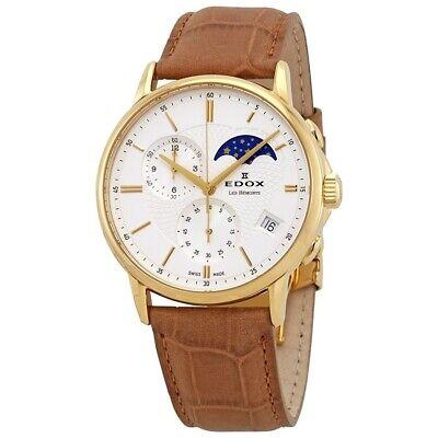 NEW Edox Les Bemonts Men's Chronograph Watch - 01651 37J AID