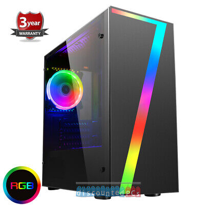 Computer Games - AMD 3400G Quad Core 16GB Windows 10 SSD Gaming PC Computer Seven RGB up306