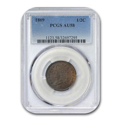 1809 Half Cent AU-58 PCGS - SKU#132787