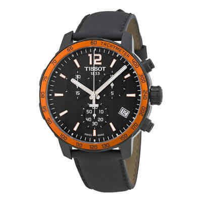 01790ab533345 Tissot Quickster Chronograph Black Dial Men s Watch T095.417.36.057.01