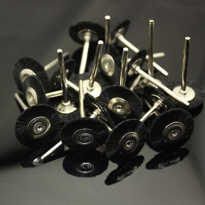 50 Pcs Black Latch Type 3.0mm Rotary Tool Jewelry Dental Polishing Brush Wheel