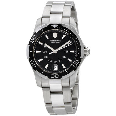 Victorinox Alliance Sport Black Dial Stainless Steel Ladies Watch 241305