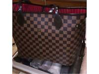 Louis vuitton neverfull bag n purse set