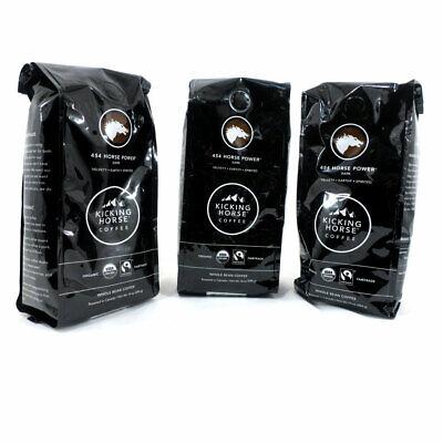 Kicking Horse Coffee Organic Dark Roast Whole Bean 454 Horse Power 10 oz. 3 Bags