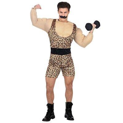 30er Jahre Kostüm (GEWICHTHEBER HERREN KOSTÜM 20er 30er Jahre Retro Zirkus Starker Muskel Mann 0254)