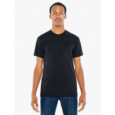 American Apparel 50/50 T-Shirt Poly Cotton Ultra Soft Crew Neck Tee Shirt BB401