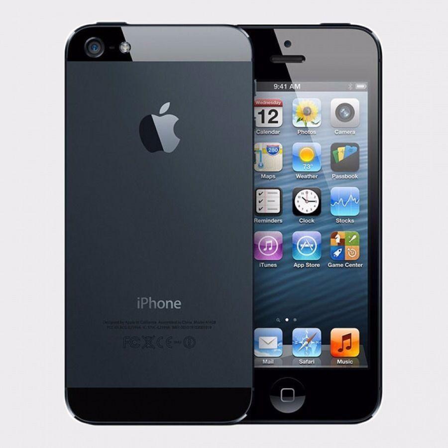 Apple iPhone 5 Black 32GB Mobile Phone on 02 Giffgaff Tesco GT