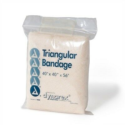 LOT OF 48 TRIANGULAR BANDAGE 40X40X56 WITH PINS SLING SURVIVAL KIT STR211-03312