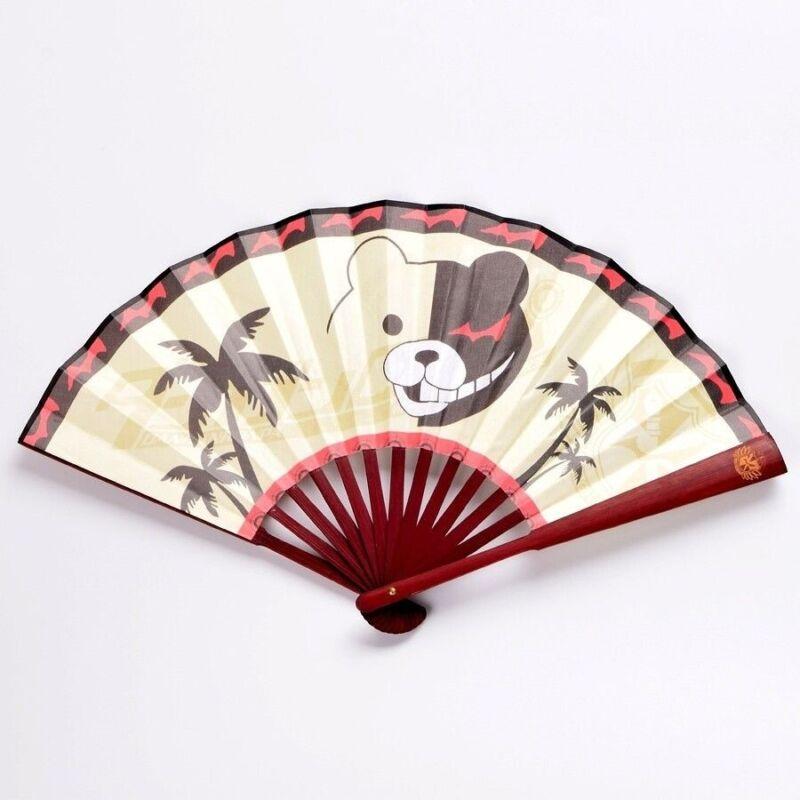Danganronpa Chinese Portable Fans Anime Hand Held Folding Bamboo Fan Cosplay