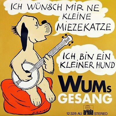 "7"" WUM'S GESANG Ich wünsch mir 'ne kleine Miezekatze LORIOT WIM TOELKE ZDF 1971"