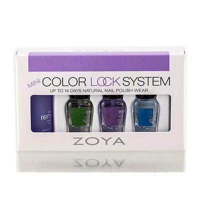 Zoya Color Lock System 4pc Mini Gift Set