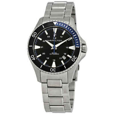 Hamilton Khaki Navy Scuba Automatic Black Dial Batman Bezel Men's Watch
