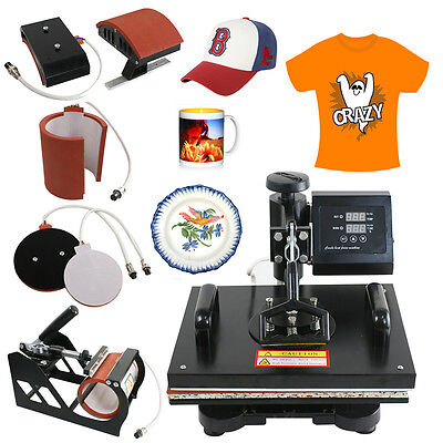 5 In 1 T-shirt Mugplate Sublimation Heat Press Transfer Machine Diy Printer