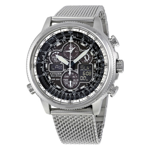 $311.00 - Citizen Navihawk UTC Eco-Drive Chronograph Mens Watch JY8030-83E