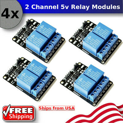 4pcs 5v Dual 2 Channel Relay Module Board Shield For Arduino Raspberry Pi