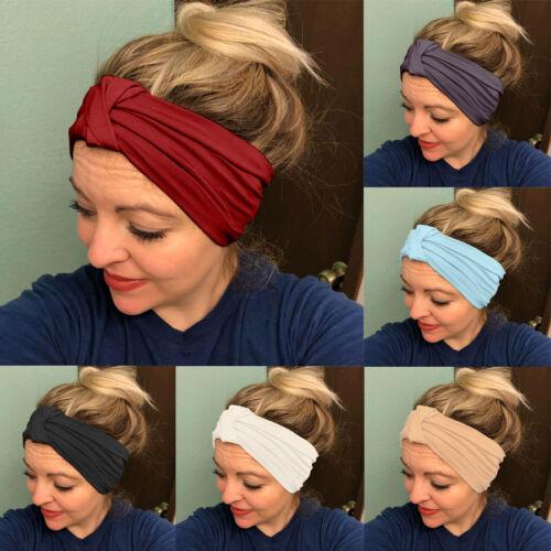 Women Knitted Headbands Winter Ear Warm Head Wrap Wide Hair Accessories Headband