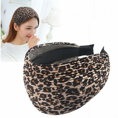 Women's Wide Leopard Plain Alice Headband Hairband Hair Band Hoop Accessories