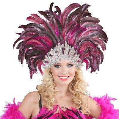 RIO FEDERKOPFSCHMUCK Karneval Travestie Federschmuck Brasilien Kostüm Fest - Karneval Kostüm Brasilien