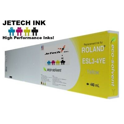Roland Esl3-4 Eco-solvent Max Compatible 440ml Ink Cartridge - Yellow