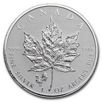 Canada 5 Dollari Argento 1 Oncia Acero Leaf 2017 Marca Gallo - 1 Oz Silver Coin -  - ebay.it
