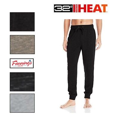 New Mens Weatherproof 32 Degrees Heat Soft Tech Fleece Jogger Pants Variety