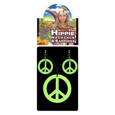 HÄNGER 70er Jahre Peacezeichen Ohrclips Kostüm Schmuck 5347 (Peace Zeichen Kostüm Schmuck)